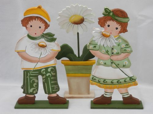 Daisy Children and Flower Pot - Set of 3 - Large
